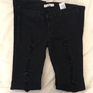 Hollister Boot Cut Distressed Low Rise Jeans